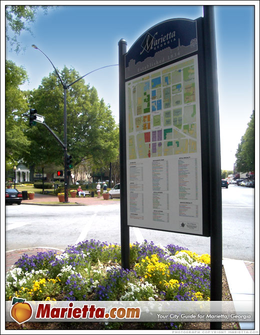 Map of Marietta Square Shops