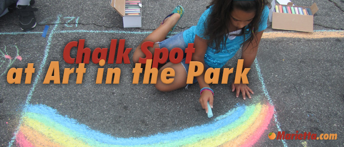 Chalk Spot at Art in the Park