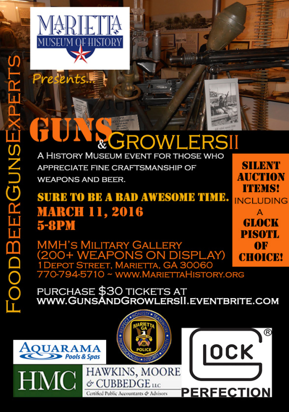 "As the flyer suggests, ""Sure to be a bad awesome time"" and you could win a glock ""pisotl"" of choice! Beer and guns - what could possibly go wrong?"